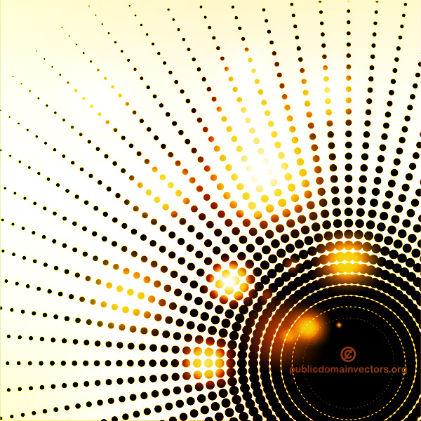 Radial Dotted Glow Lights Abstract Background vector rays radial lights glowing free dotted dark circle background abstract