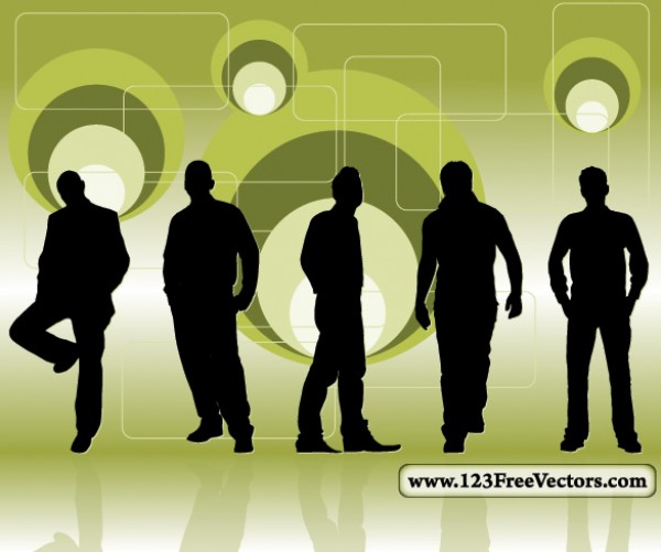 Posed Men Silhouettes Retro Background web vectors vector graphic vector unique ultimate silhouettes retro background quality photoshop pack original new modern men man illustrator illustration high quality fresh free vectors free download free download design creative background ai abstract