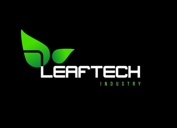 Vector Leaf Tech Industry Logo vectors vector graphic vector unique tech quality photoshop pack original modern logo leaves leaf industry illustrator illustration high quality fresh free vectors free download free eco download creative ai