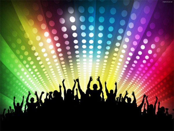 4 Dance Party Backgrounds Set wallpaper stylish silhouettes people party background party new year illustration disco dancing background abstract