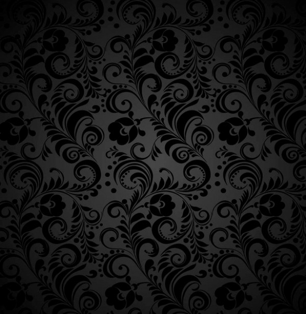 Dark Seamless Floral Grey Pattern web wallpaper vintage vectors vector graphic vector unique ultimate quality photoshop pattern pack original new modern illustrator illustration high quality grey gray fresh free vectors free download free floral download design dark creative black background ai