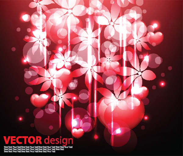 Fantasy Floral Red Glow Abstract Background vector red lights free download free floral fantasy dark bubbles bokeh background abstract