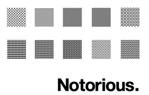 "10 ""Notorious"" Repeatable Pixel Patterns PAT web unique stylish repeatable quality pixel pattern pattern pat original notorious modern fresh free download free download design creative background"