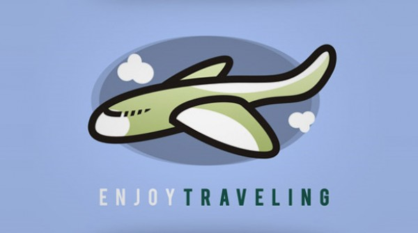Enjoy Traveling Logo white warm vector trip traveling travel psd plane photoshop illustrator holiday graphical free blue airplane airlines air