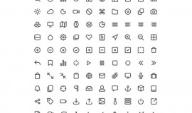 100 Feather Line Icons Pack