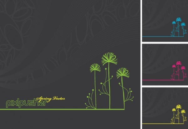 4 Clean and simple flower backgrounds vectors vector graphic vector unique tree quality photoshop pack original modern illustrator illustration high quality fresh free vectors free download free flower floral download creative colors background ai