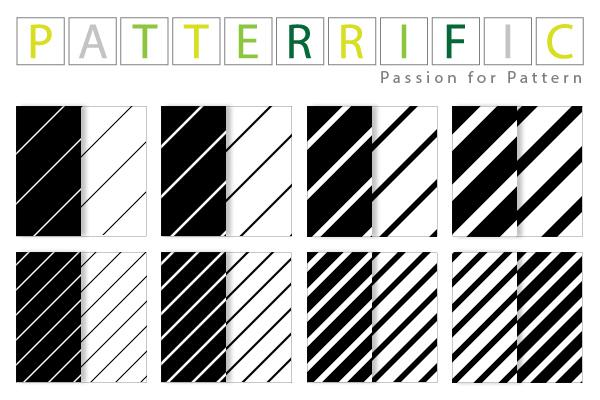 16 Diagonal Stripes Seamless Patterns Set ui elements ui tile stripes striped set seamless pattern free download free diagonal black and white background