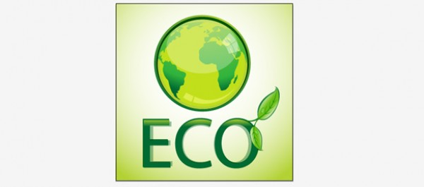 Eco Vector vector logo green file eco ai file ai