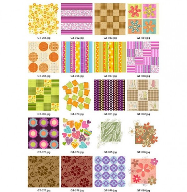 20 Groovy Retro Floral Patchwork Vector Patterns web vintage vector unique stylish striped retro quilt quality patterns patchwork original illustrator high quality graphic fresh free download free floral download design creative colorful circles checkered