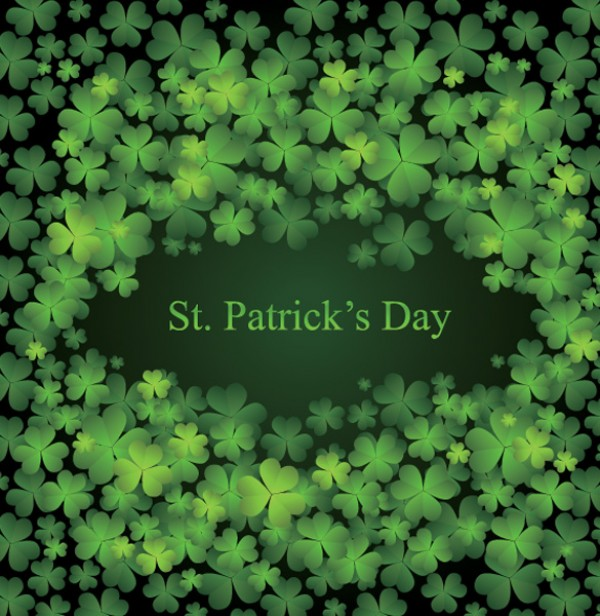 St Patrick's Day Clover Background web vectors vector graphic vector unique ultimate st patricks day quality photoshop pack original new modern illustrator illustration high quality green fresh free vectors free download free four leaf clover download design creative clover background ai 4 leaf clover