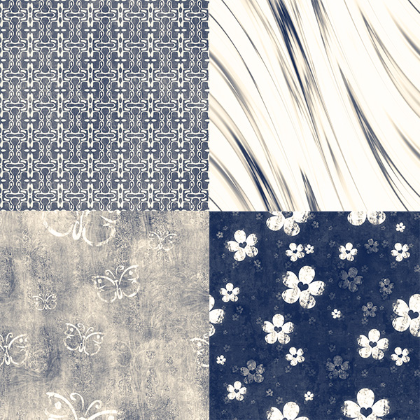 10 Tileable Grunge Blue/Cream Patterns Set ui elements ui tileable pattern set pattern grungy grunge free download free floral faded cream blue abstract