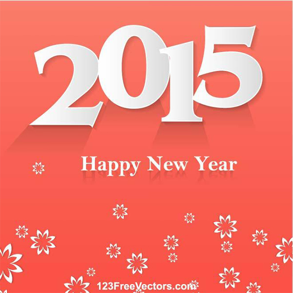 2015 Happy New Year Illustration 192 new year 2015 happy new year floral cutouts background 2015