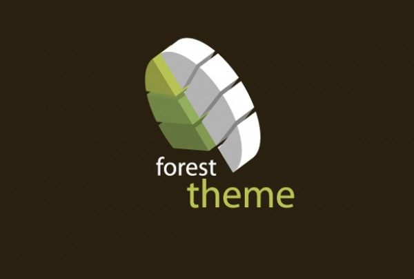 Clean Green Forest Theme 3D Logo vectors vector graphic vector unique quality photoshop pack original nature modern logo illustrator illustration identity high quality green fresh free vectors free download free forest environment earth download creative ai abstract 3d