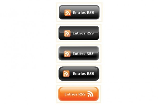Glossy Entries RSS Web Buttons web unique ui elements ui stylish simple RSS logo rss buttons rss quality original new modern interface hi-res HD fresh free download free entries rss elements download detailed design creative clean buttons