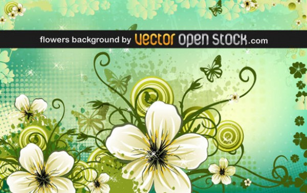 Beautiful Floral Green Background vectors vector graphic vector unique quality photoshop pack original modern illustrator illustration high quality green fresh free vectors free download free flowers floral download creative background ai