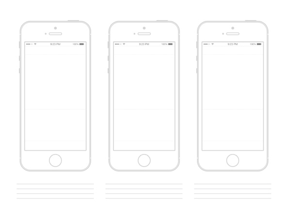 iPhone 5S Wireframe PSD Mockup wireframe ui elements ui mockup iphone5s iphone 5s iphone free download free