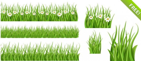 3 Green Grass Tile Patterns PSD Web Elements ui psd source photoshop resources isolated grass object interface interesting illustration icons green grass graphic enrich interface eco friendly clean background