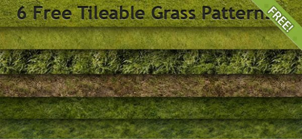 6 Tileable Grass Patterns vectors vector graphic vector unique tileable quality photoshop patterns pack original modern illustrator illustration high quality green grass green grass fresh free vectors free download free download creative background ai