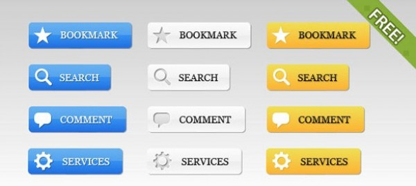 39 Web 2.0 UI Buttons Set PSD web unique ui elements ui tools stylish simple search quality original new modern interface icons hi-res HD fresh free download free elements download detailed design creative comment clean buttons with icons buttons bookmark blue