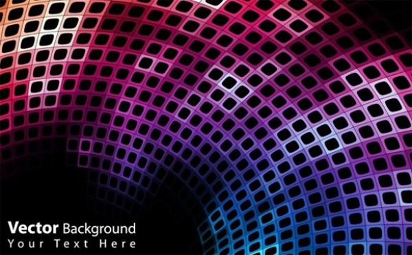 Futuristic Space Age Abstract Vector Background web vector unique stylish squares space age space quality purple pink original modern illustrator high quality graphic futuristic fresh free download free eps download disco ball design creative colorful blue black background abstract