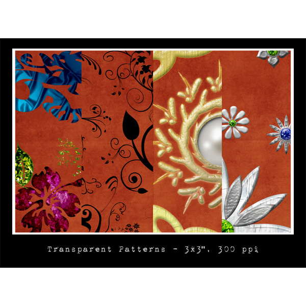 4 Ornate Floral Abstract Patterns Set PAT/PNG web unique floral pattern unique ui elements ui transparent tileable stylish seamless quality png pearls patterns pat ornate original new modern interface hi-res HD gemstones fresh free download free floral elements dragons download detailed design creative clean background abstract