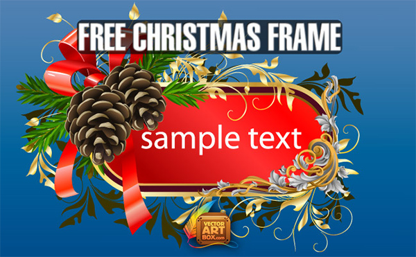 Decorated Christmas Floral Banner vector floral evergreen decorate christmas card banner