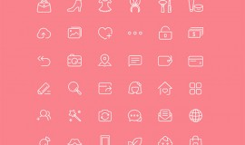 36 Chic Style Web Line Icons