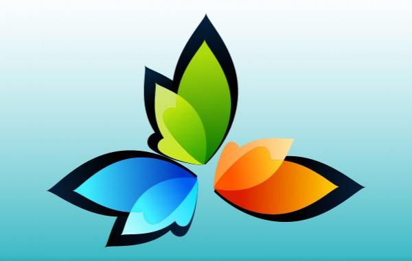 Organic Nature Leaf Logotype spa organic nature logotypes logos leaves leaf colorful