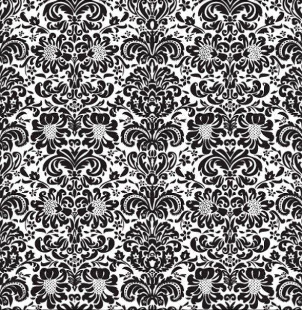 Traditional Style Floral Damask Wallpaper Pattern web wallpaper vintage vector unique ui elements stylish seamless quality pattern original new interface illustrator high quality hi-res HD graphic fresh free download free floral eps embossed elements download detailed design damask creative black and white background