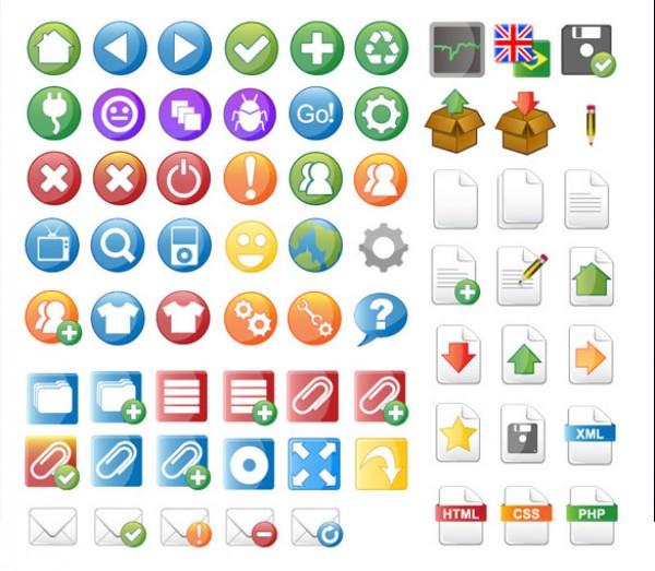 69 Vector Icon Set for Web Design web developer web vector icons vector set school kid interesting icon free downloads free design colorful childish