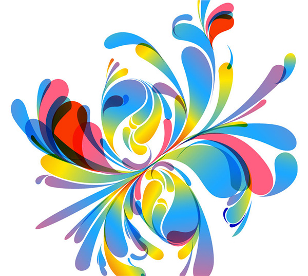 Transparent Colors Floral Abstract Background vector transparent splashes shapes free download free floral colorful blue balloon shapes background abstract