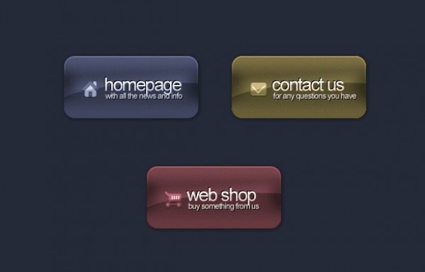 Stylish Dark Web UI Buttons with Logo PSD web unique ui elements ui textured stylish simple quality original new modern logo interface hi-res HD glossy fresh free download free elements download detailed design dark creative clean buttons