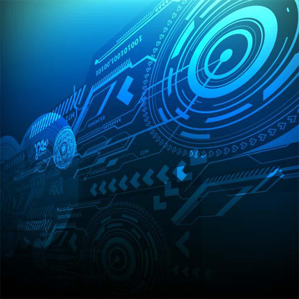 Blue Tech Abstract Background technology tech dark circuit blue background abstract