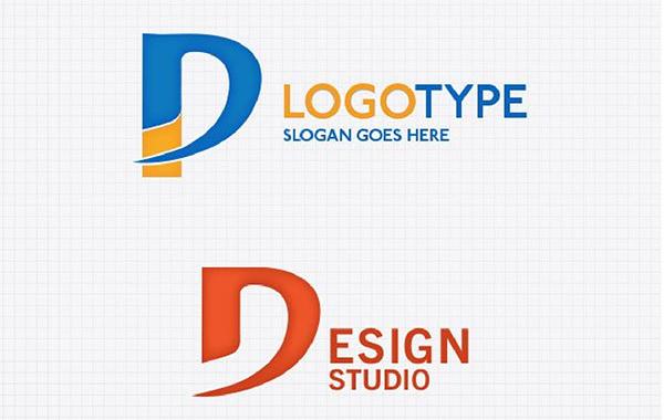 2 Letter D Typeface Logo Templatea typeface p logotype logo font d