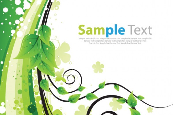 Eco Green Floral Abstract Background wave vine vectors vector graphic vector unique quality photoshop pattern pack original modern illustrator illustration high quality green fresh free vectors free download free floral ecology eco download creative background ai