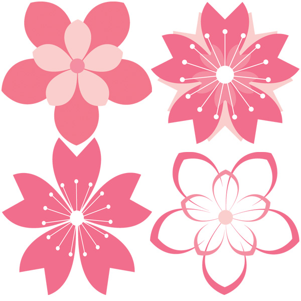 11 Cherry Blossom Vector Patterns Set web vector unique ui elements stylish set repeatable quality png pink petal pattern original new interface illustrator high quality hi-res HD graphic fresh free download free flower floral elements download detailed design creative cherry blossom blossom ai