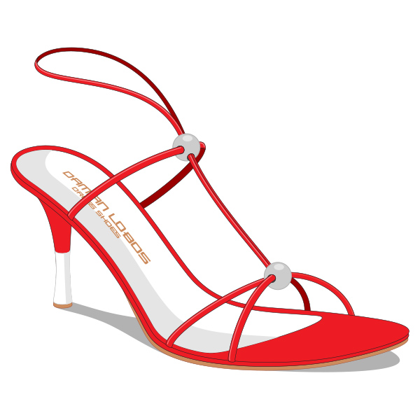 Dressy Red Ladies Strap Sandal Shoe vector strap sandal shoe sandal red heels dressy dress
