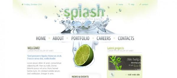 Splash photoshop template