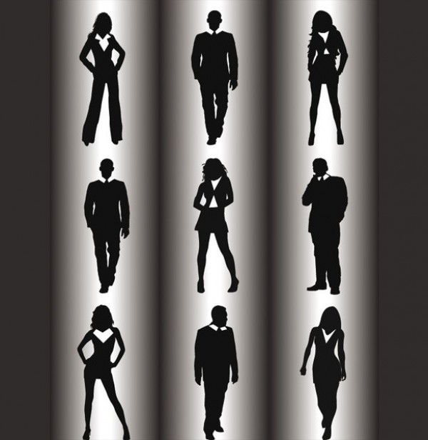 Business People Vector Silhouettes Pack world web vector unique ui stylish silhouettes quality original new map interface illustrator high quality hi-res HD grid map graphic fresh free download free elements download detailed design creative business people business