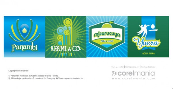 4 Unique Abstract Green Blue Logos vectors vector graphic vector unique trees swirl quality photoshop pack original modern logos illustrator illustration high quality green fresh free vectors free download free download creative blue arches ai