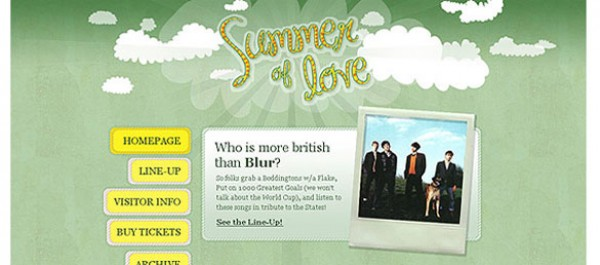 Summer of love photoshop template