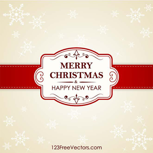 Christmas Card Vector Banner Background snowflakes ribbon merry christmas happy new year christmas card banner