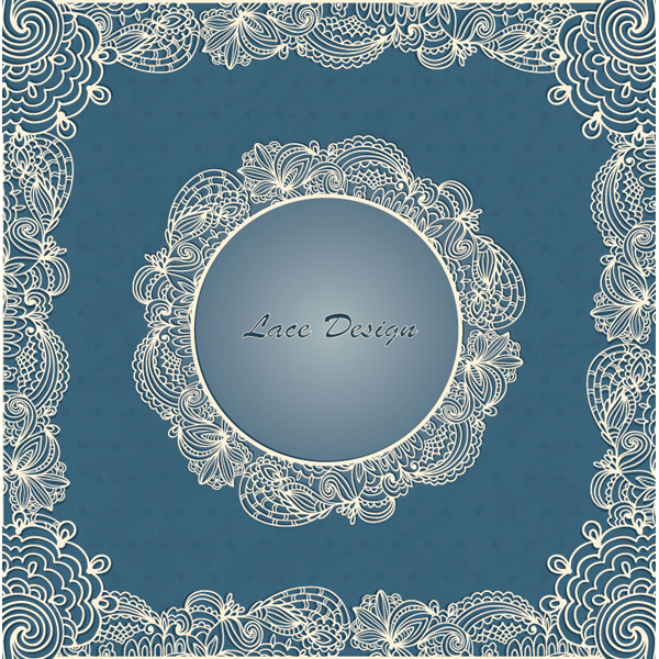 Delicate Vintage Lace Vector Frames web vintage card vintage vector unique ui elements stylish quality original new lace interface illustrator high quality hi-res HD graphic fresh free download free frame eps elements download detailed design delicate creative classic card border blue background