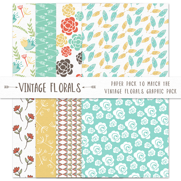 8 Vintage Floral Paper Background Set yellow vintage ui elements set seamless roses free download free floral paper floral background floral download diamond blue