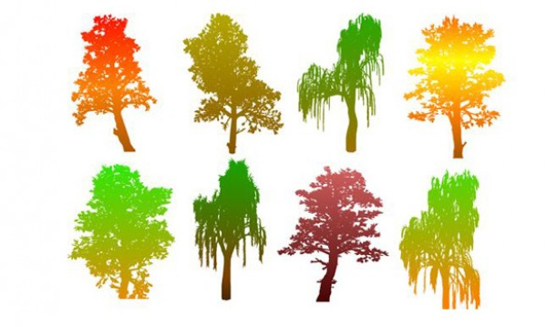 8 Colorful Autumn Tree Silhouettes web vectors vector graphic vector unique ultimate ui elements trees tree silhouette silhouettes quality psd png photoshop pack original new modern jpg illustrator illustration ico icns high quality hi-def HD fresh free vectors free download free fall tree elements download design creative colorful tree colorful autumn tree autumn ai