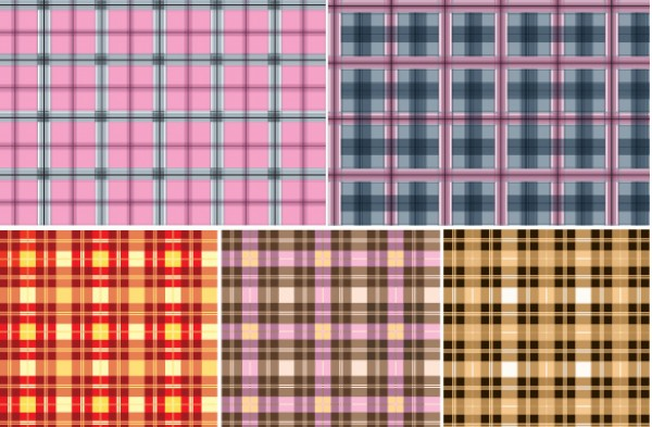 5 Seamless Checkered Vector Patterns vectors vector graphic vector unique textured Textile tablecloth square Shape seamless Repetition quality photoshop pattern pack original modern illustrator illustration high quality fresh free vectors free download free download creative checkered background ai