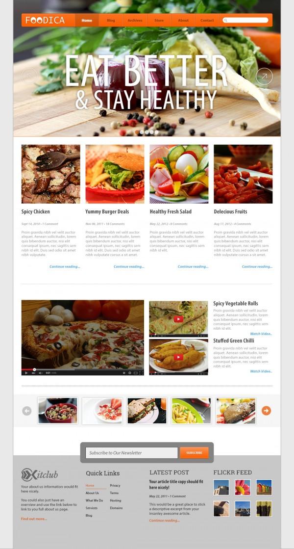 Foodica - PSD Website Temaplate website psd psd template psd free psd food