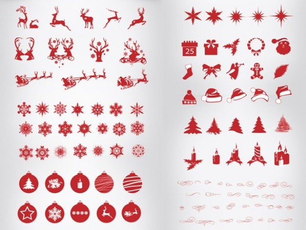 108 Christmas Silhouette Elements Pack PSD web unique ui elements ui trees stylish silhouettes set santa reindeer quality psd pack original new modern interface icons hi-res HD fresh free download free elements download detailed design creative clean christmas silhouette christmas icons christmas elements candles