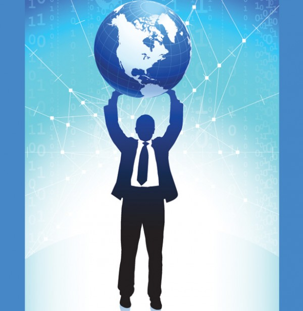 World Business People Silhouettes world web vectors vector graphic vector unique ultimate silhouettes quality powerful photoshop people pack original new modern illustrator illustration high quality growth graph fresh free vectors free download free earth download design creative business ai
