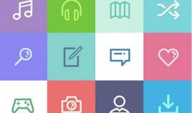 84 Dripicons Minimal Line Icons Pack